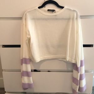 Purple and White Sweater